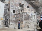 P�ekr�sn� fresky na skaln�m kl�teru Sumela