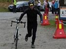 Michal �in�iala na extr�mn�m triatlonu Norsemen