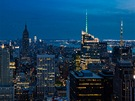"No�ní pohled na New York z terasy ""Top of The Rock"" v Rockefeller Center je..."