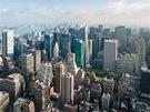 Pohled z Empire State Building sm�rem kseveru. Uprost�ed vidíte mrakodrapy...
