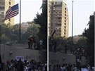 Rozzu�en� Egyp�an� demonstrovali kv�li filmu, kter� hanob� proroka Mohameda,...