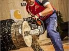 Martin Komárek získal na zářijovém šampionátu Stihl Timbersports 2012 stříbrnou
