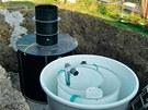 Instalace domovní čistírny odpadních vod Euroclar a retenční nádrže na