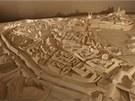 Obří sádrový model zobrazující podobu Olomouce v 18. století.