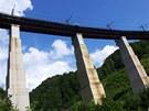 Ščerbinský viadukt vysoký 39 m