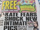 Sn�mky Kate naho�e bez otiskl i list Irish Daily Star.