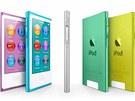 Přehrávače iPod nano jsou v sedmi barevných provedeních