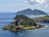 Sporné souostroví Tiao-jü čili Senkaku, o které se hádají Číňané s Japonci.