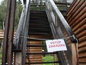 Do části lesovny v Píseckých horách je vstup zakázán.