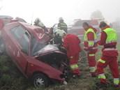 Dopravní nehoda u Bílého Újezdu na Rychnovsku (14. 9. 2012)