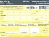 Smlouva o penzijním připojištění se státním příspěvkem Penzijního fondu České