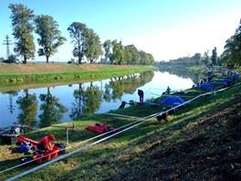 Obklopená řeka Morava