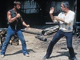 Chuck Norris se utkal před kamerou i s Davidem Carradinem.