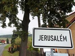 Obec  Jeruzal�m nedaleko P��brami