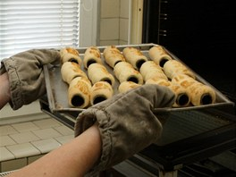 Trubičky vyráběné cukrářkou Olgou Gřundělovou v Branné na Šumpersku.