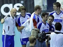 Čeští volejbalisté na kvalifikačním turnaji o mistrovství Evropy. Asistent