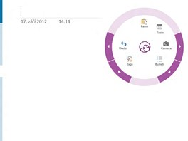 Kruhov� dotekov� rozhran� OneNote MX