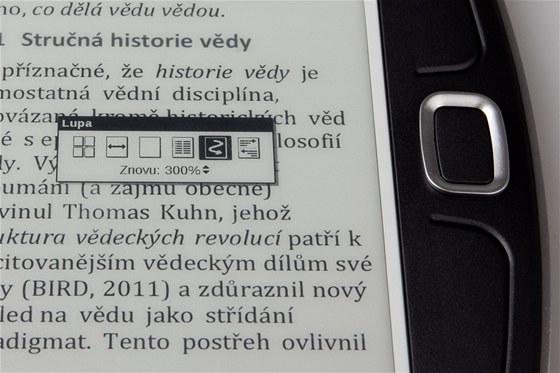 Nástroj pro zvětšování pro PDF nabízí řadu různých pohledů, včetně zmenšenin