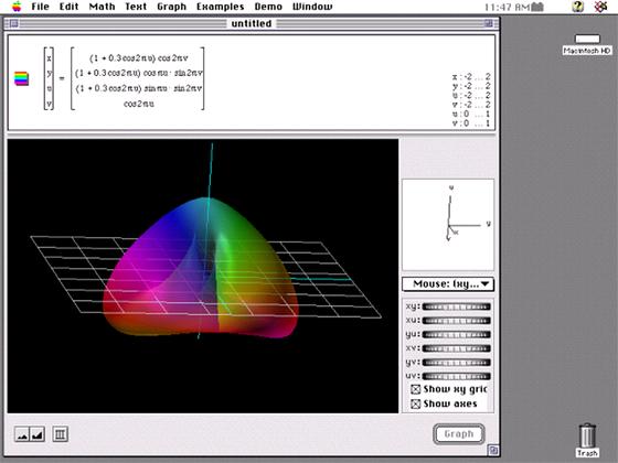 Graphing Calculator (jedna z prvních verzí pro MacOS)