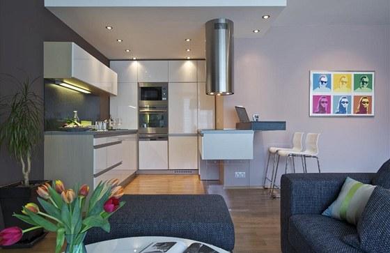 Kuchyňská sestava nábytku byla zhotovena podle návrhu designéra ve studiu