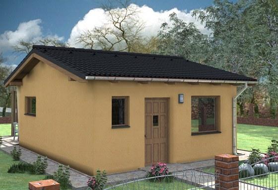 Fošinková dřevostavba, pro seniory či startovní, velikost 1+kk, 35,06 m2. Za