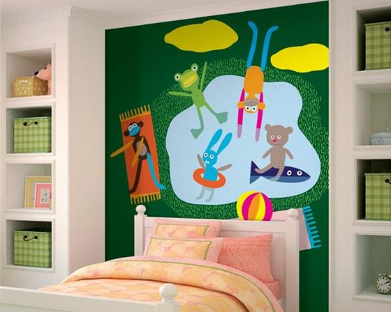 Obrazová tapeta s dětským motivem - návrh Babeta Ondrová