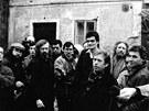 Václava Havla při návštěvě Kadaně v roce 1990 zachytil jeho dvorní fotograf