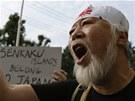 Protičínské protesty v Tokiu. Japonci chtějí, aby jim zůstaly ostrovy Senkaku.