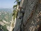 Lidé trpící závratí by se mělil ambicí na zdolání hory Huashan vzdát.