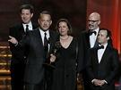 Emmy 2012 - Producent Tom Hanks s tvůrci televizního filmu Prezidentské volby