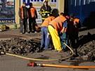 Únik plynu v Ostravě-Vítkovicích. Na vině byli dělníci, kteří při budování