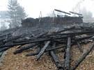 Původní rozhledna Hýlačka shořela ráno 1. ledna 2012.