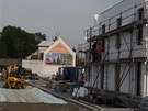 Stavba dostihového areálu v olomoucké části Lazce.