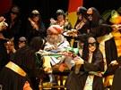 Z inscenace muzikálu Josef a jeho úžasný pestrobarevný plášť v Nádorním divadle