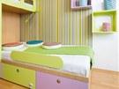 Patchworkové textilní polštářky a sedáky si děti rychle oblíbily.