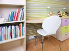 Oblý tvar pracovního stolu zajišťuje bezpečí pro oba obyvatele.