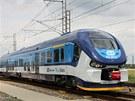 Žralok je prvním vlakem v moderní historii ČD, který má mezi dvěma vozidly...