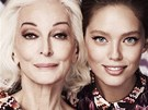 Jednou z tv��i kolekce Missoni Lindex se stala 81let modelka Carmen Dell'Orefice
