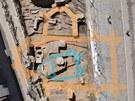 Objevy z olomouckého Dolního náměstí - půdorys kaple svaté Markéty z 15.
