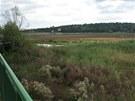 Dno plumlovské přehrady se přes léto proměnilo v louku zarostlou trávou a