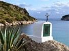Z�liv Moresca u mysu Figari na severov�chodn�m pob�e�� Sardinie