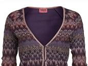 Prop�nac� svetr s kontrastn�m lemov�n�m a kapsami, Missoni Lindex, 999 korun