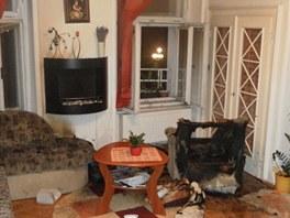 Byt na Krakonošově náměstí v Trutnově, kde se těžce popálil dvanáctiletý