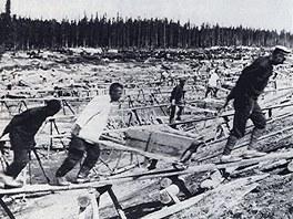 D�ina ve stalinistick�m pracovn�m t�bo�e (ilustra�n� sn�mek)