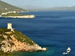 Mys Capo Caccia nedaleko Alghera (Sardinie)