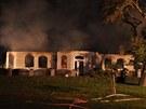 Rozsáhlý požár rodinného domku a jeho přístaveb ve Smržicích na Prostějovsku