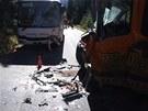 Nehoda autobusu a dodávky u Špindlerova Mlýna