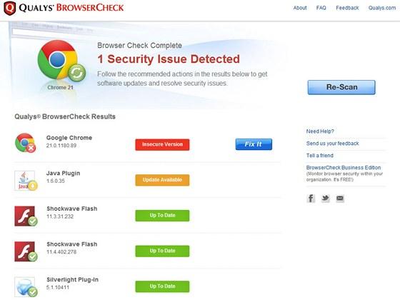 BrowserCheck by Qualys.com