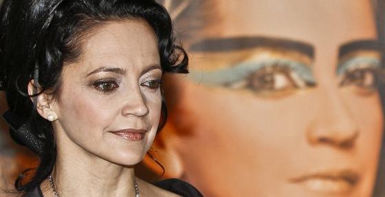 Lucie Bílá na tiskové konferenci k muzikálu Aida