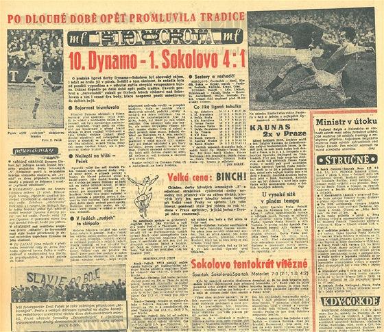 Zajímavý způsob tvorby sportovních titulků, který dnes už v novinách nenajdete.